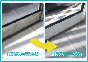 窓ガラス・サッシ・窓周りクリーニングの作業前・作業後