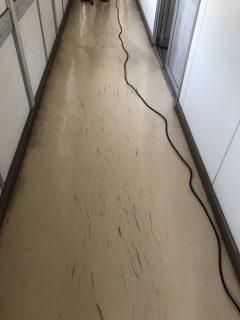 会社 事務所 廊下 床洗浄ワックス 広島