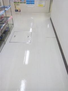 店舗 会社 事務所 床洗浄ワックス  広島市